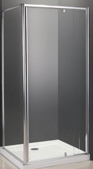 Semi Frameless Square Shower Screen 900 X 900 X 2000mm