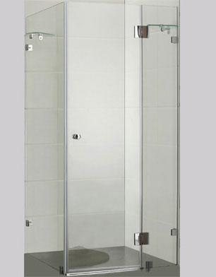 Square Frameless Over Bath Shower Screens