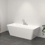 Dee Back To Wall Free Standing Bath 1400 x 740 x 580