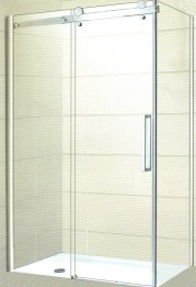Frameless Rectangle SliderFreestanding Bath With Shower