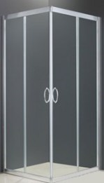 Semi-Frameless Square Slider Shower Screen Australia